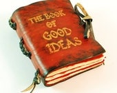 The book of good ideas Red Leather pocket Book/ Journal
