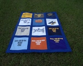 Football Softball or Basketball Custom Sports Tshirt Memory Quilt with Your Own Tee Shirts