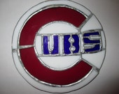 Stained Glass Cubs Sun catcher