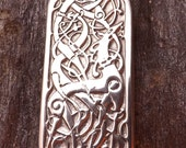 Norse Dragon - Nidhogg - Pewter Pendant - Norse Jewelry, Celtic, Celt, Knotwork, Norse Mythology the dragon that eats from the World Tree.