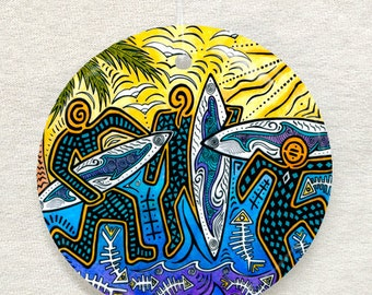 3 Surfers Ornament and Suncatcher