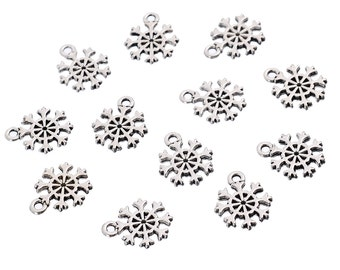 Small Snowflake Charm - Set of 12 - #HK1109