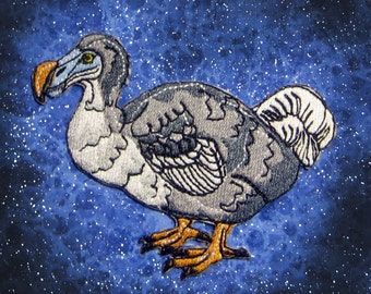 The Dodo Bird Raphus cucullatus Iron On Patch