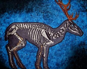 Anatomical Skeleton Deer Iron on Patch