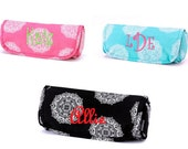 monogrammed Medallion Print Jewelry Roll Bag