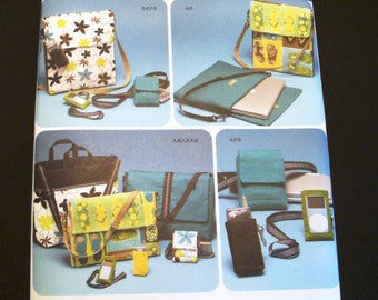 Simplicity 4391 Pattern - Cell Phone Pattern - Laptop Computer Case Pattern - Camera Case - Sewing Pattern - Game System Tote Pattern