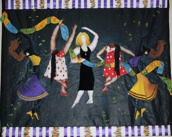 Dancing with My Friends (soft-sculpture wall hanging)