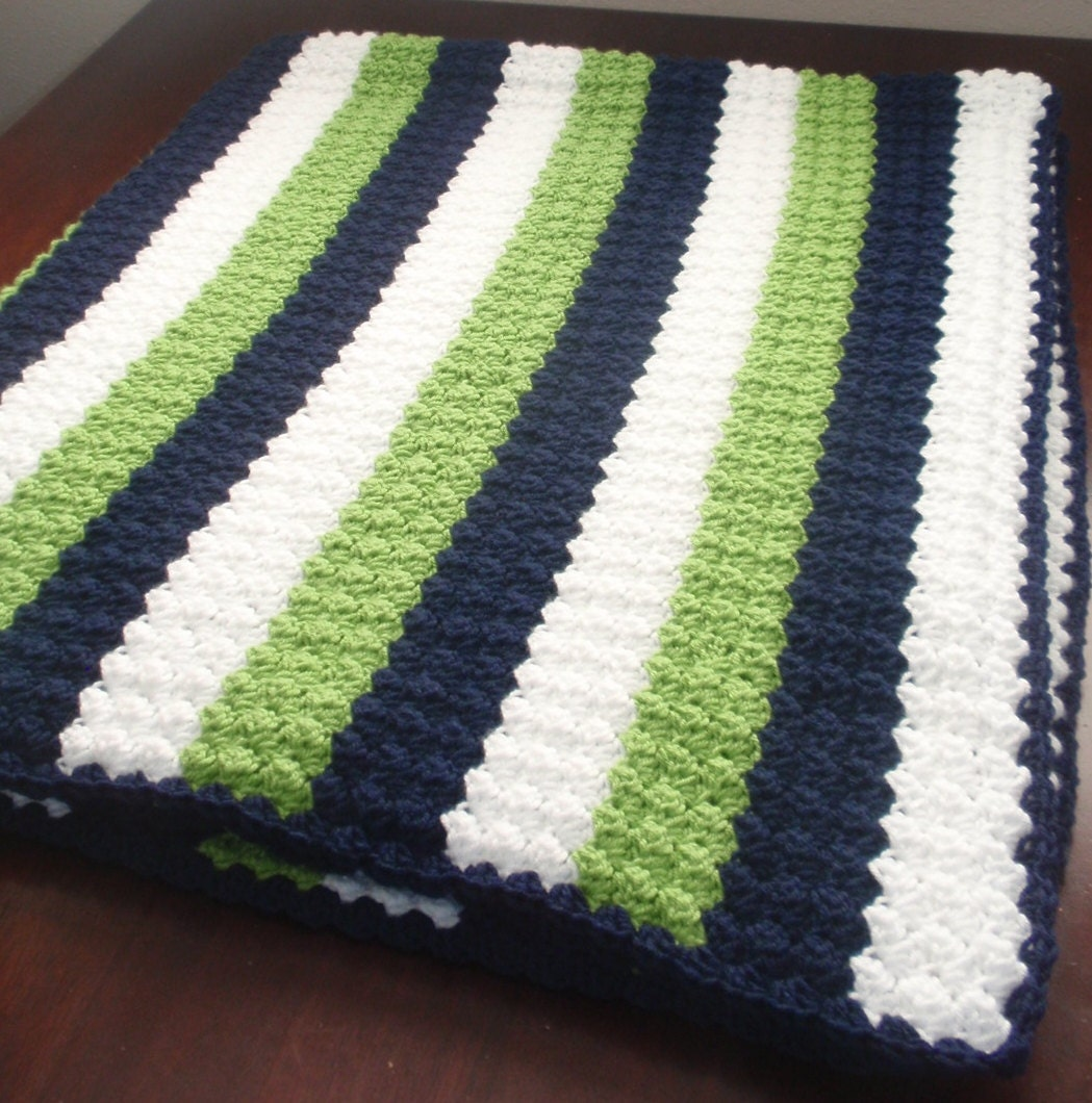 Crochet Pattern For Football Blanket : Crochet Seahawks Afgan Seahawks Blanket Football Blanket