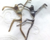 Vintage Abstract Dancers Brooch / Pin - Modernist 1970s to 1980s - Goldtone & Silvertone USA