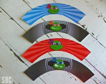 TMNT Cupcake Wrappers...Set of 12 Cupcake Wrappers