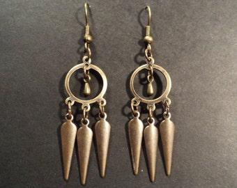 Nomade - Brass earrings - Caravan Collection