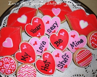 "Sweet Kiss Valentine""s Day cookies - 12 - Cookies"