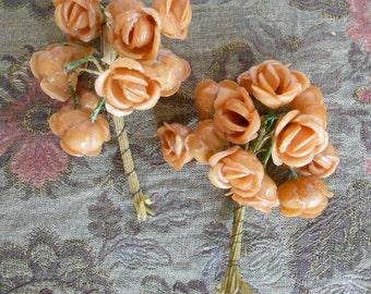 1930's Plastic Tan Roses