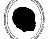 CUSTOM PORTRAIT: Jessica's Adorable Baby Son In Silhouette