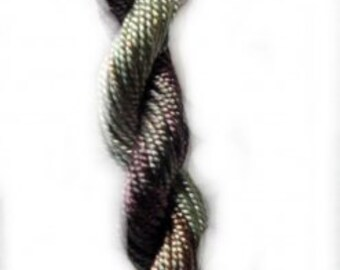 Steely Nights Shimmer- 10yds Hand-Dyed Fine Silk Cord