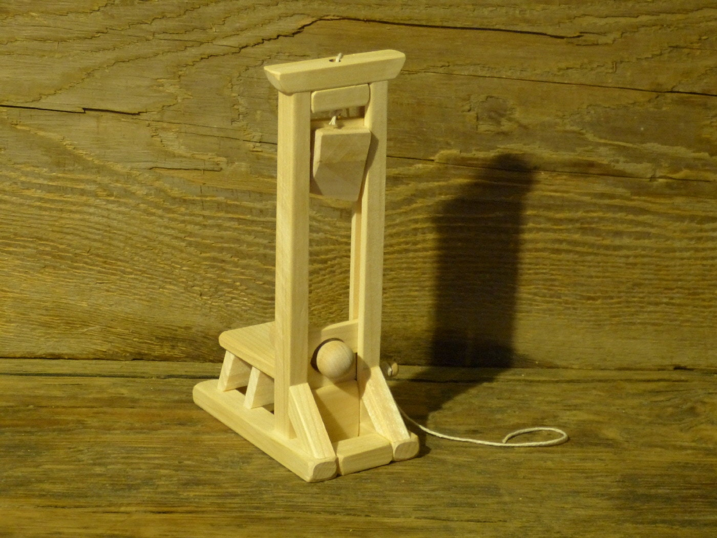 geekery wood toy guillotine halloween decor wooden toys man. Black Bedroom Furniture Sets. Home Design Ideas