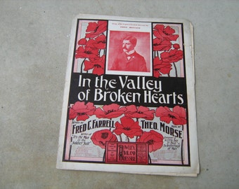 1903 sheet music (   in the valley of broken hearts  )
