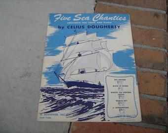 1948 sheet music (  five sea chanties  )