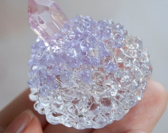 Glass Crystal Sculpture / OOAK