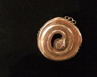 Vintage Steampunk Snake Brooch/Pendant