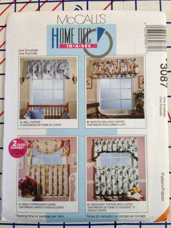 Mccall 3087 home dec topper window by wonderfullymadegarb for Professional window treatment patterns