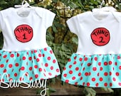 Thing 1 and Thing 2  dresses