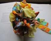 Colorful Handmade Vintage Fabric Wedding Bouquet