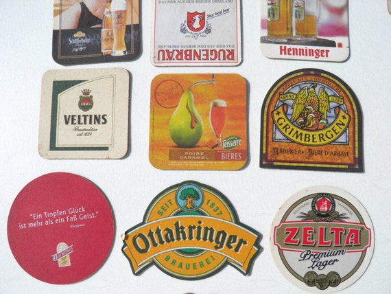 Stack of 34 cardboard craft beer coasters brewery wall or - Cardboard beer coasters ...