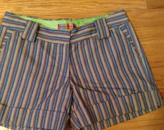 Petro Zillia trouser style, pinstripe shorts with pockets size 2