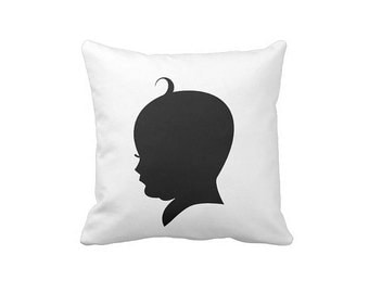 Silhouette , Decorative , Pillow , Baby , Unisex