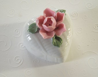 Ring bearer pillow wedding ring holder, ring dish, ring bearer box, engagement gift vintage wedding heart