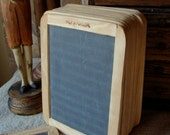 Stunning Antique Unused Double Sided School Slate Board Chalk Board, Farmhouse Chic White Decor for Menu