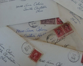 Ephemera Old Antique Love Letter post marked 1920s Great for Lovers Gift and Wedding Tables
