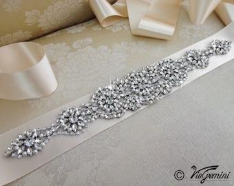 Wedding Sash, Bridal Sash Belt, Wedding Sash belt, Rhinestone Sash