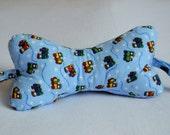 Dog Bone Neck Pillow- Choo Choo Train Flannel
