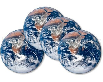Planet Earth from Space Coasters - Set of 4