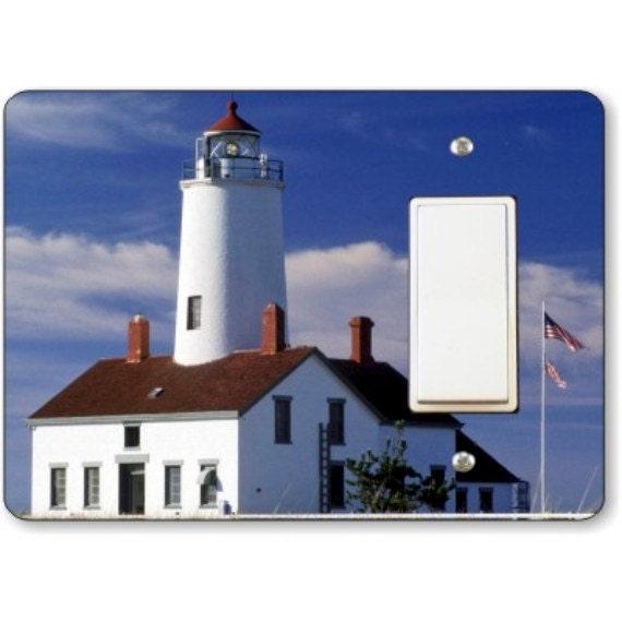 Lighthouse nautical decora rocker light switch plate cover for Lighthouse switch plates