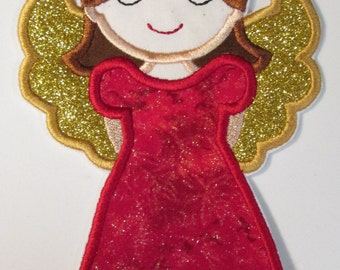 Christmas Angel for Girls - Iron On or Sew On Applique
