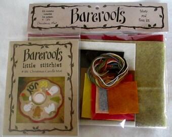 Christmas Candle Mat Kit - Bareroots - Little Stitches - DIY