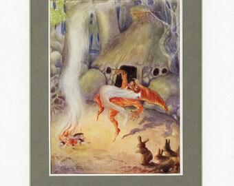 1912 Antique Print Rumpelstilskin from Rose Fairy Book