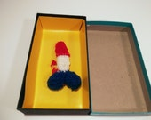 Tiny Baby Penis Sweater 1980s Gag Gift Baby Boy baby shower gift red white blue