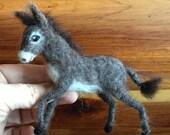 Needle Felted Donkey, Miniature