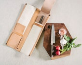 Leather Knife Case // 4 knife kit by fullgive in natural