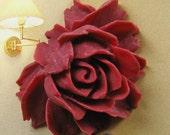2 pcs - Big Maroon rose cabochon -  (CA800-C4)