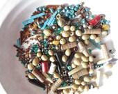 Vintage Bead Destash Mixed Media Supplies Crafting Assortment Beading