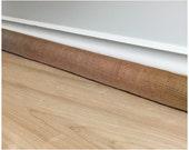 "Door Draft Stopper Cold Air Blocker LINED Natural Jute Burlap Up to 50"" Long"