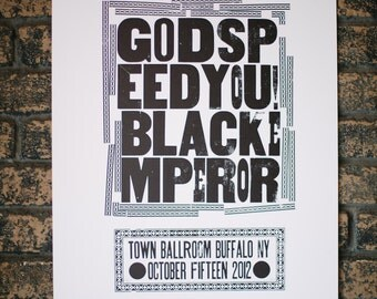 Godspeed You Black Emperor Letterpressed Print