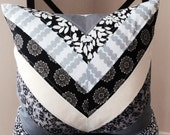 Chevron Quilted Pillow Cover