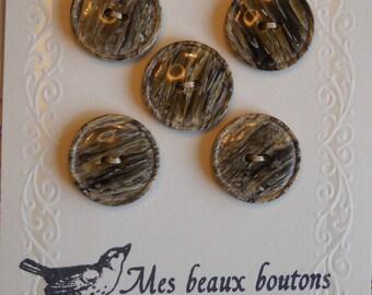 Faux Boise- vintage buttons- set of 5