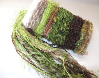 INTO THE WOODS Specialty Yarn Fiber Embellishment Bundle - Altered Arts, Jewelry - 5 or more bundles 10% off